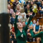 Traverse City West High School Girls Varsity Volleyball beat T.C. Central  H.S. 3-0