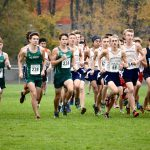Traverse City West High School Boys Varsity Cross Country finishes 3rd place