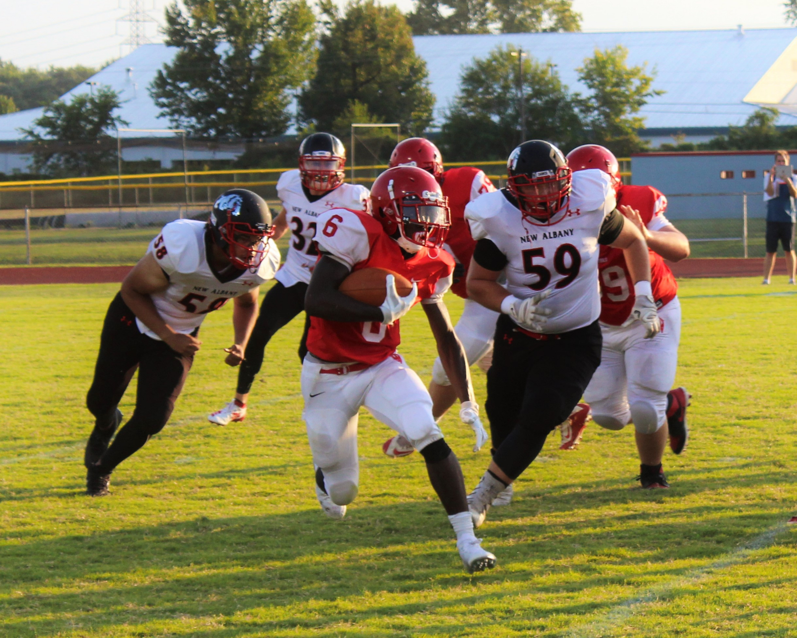 Red Devils Crush New Albany Bulldogs in Homecoming Matchup