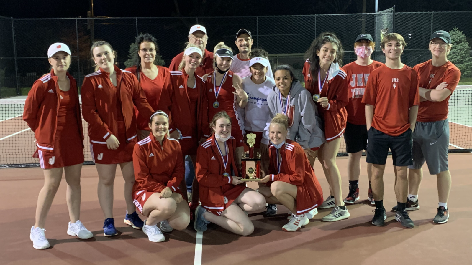 Girls Tennis placed 2nd out of 8 teams this past weekend at the New Albany Invitational.