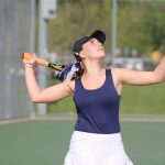 Girls Tennis Gets Win in First Round of NIC Tournament