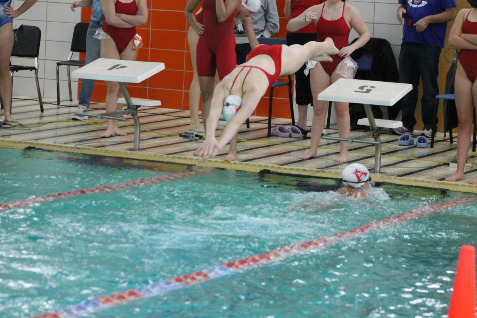 Girls Swimming vs SB St Joseph (Dec 3)