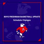 Boys Freshman Basketball Schedule Updates (Updated Dec 11)