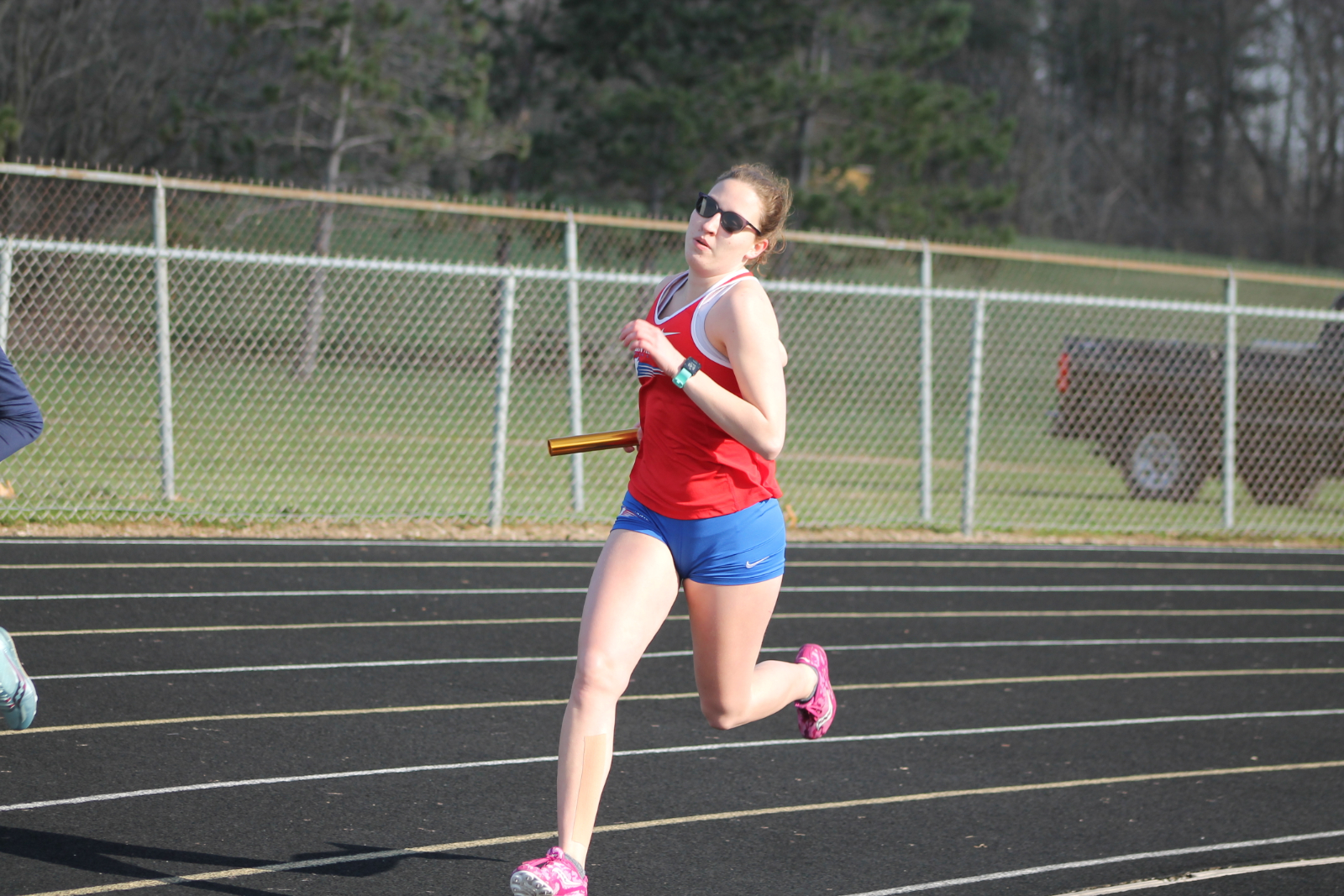 Girls Track and Field at New Prairie (Mar 31)