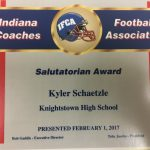 Kyler Schaetzle earns IFCA Salutatorian Award!