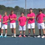 Boys tennis win their 12th in a row over Blue River 4-1