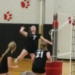 Girls Varsity Volleyball upsets Rushville 3 – 2