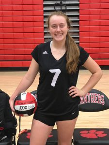 Witham hits 1000 digs and sets school record with 1232!