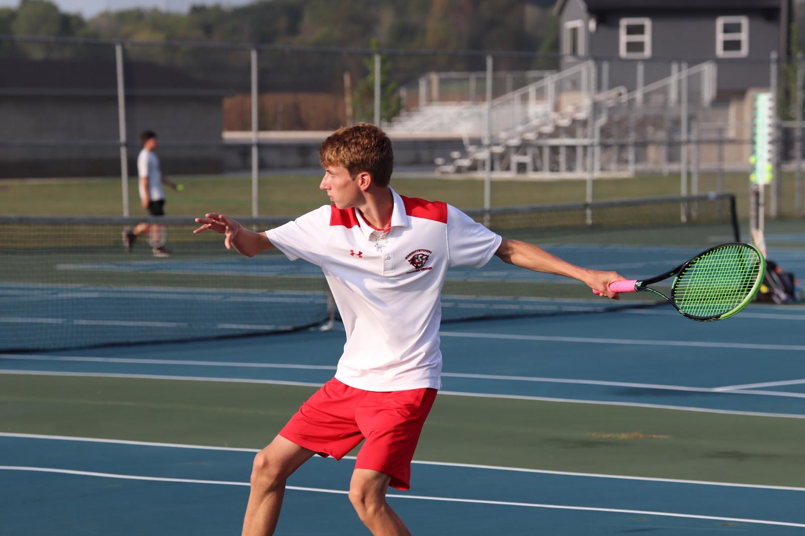 Garrett Dalton advances to IHSAA Tennis Single Regional!