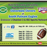 Cloverdale Clovers vs South Putnam Eagles on Endeavor