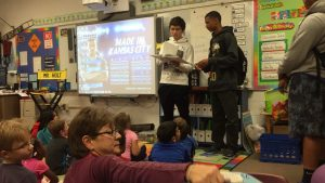 Turner Boys Basketball visits Turner Elementary School