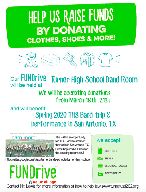 THS FUNDrive March 18th-21st