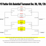 2019 Panther Girls Basketball Tournament Bracket Dec. 9th, 10th, 13th