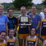 Delta High School Cross Country Varsity Girls finishes 1st place at Delaware County Meet
