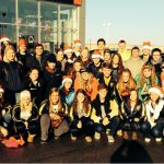 Swimming & Diving Team Volunteers for Secret Families Charity