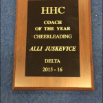 Coach Juskevice HHC Coach of the Year