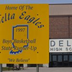 Sign in Front of School