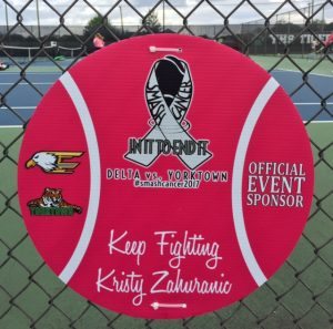 Sponsor Sign in Honor of Kristy Zaharunic