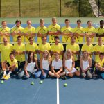 Team photo of boys' tennis team