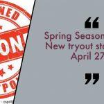 Spring Season Status Update