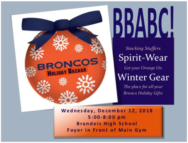 BRONCOS Holiday Bazaar 2018