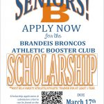Attention Senior Varsity Athletes & Athletic Trainers
