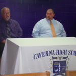 "Caverna finds ""good fit"" for football"