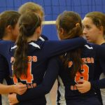 Powers Catholic High School Girls Freshman Volleyball beat Clio High School 2-1