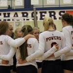 Powers Catholic High School Girls Varsity Volleyball falls to Lake Fenton High School 1-3