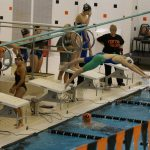 Powers Catholic Girls' Swim Team Places 3rd at Counties