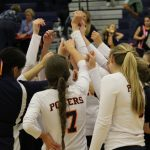Powers Catholic High School Girls Varsity Volleyball beat Durand High School 3-0