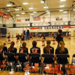 Powers Catholic High School Girls Junior Varsity Volleyball falls to Mt. Pleasant High School 1-2