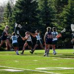 Powers Catholic High School Girls Varsity Lacrosse beat Notre Dame Prep 11-10