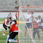 Powers Catholic High School Girls Varsity Lacrosse beat Midland Dow H.S. 10-8