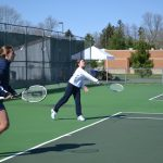 Powers Catholic High School Girls Varsity Tennis beat University Liggett High School 5-3