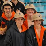 Powers Catholic High School Boys Varsity Swimming beat Bay City Central High School 94-86