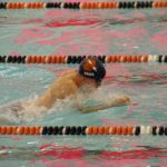 Powers Catholic High School Boys Varsity Swimming falls to Fenton High School 101-71