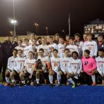 Powers Catholic High School Boys Varsity Soccer beat Ovid-Elsie High School 5-0 to capture 3rd straight district title