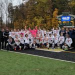 Powers Catholic High School Boys Varsity Soccer are state champions defeating Ludington High School 4-2