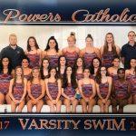Powers Catholic High School Girls Varsity Swimming finishes 5th place