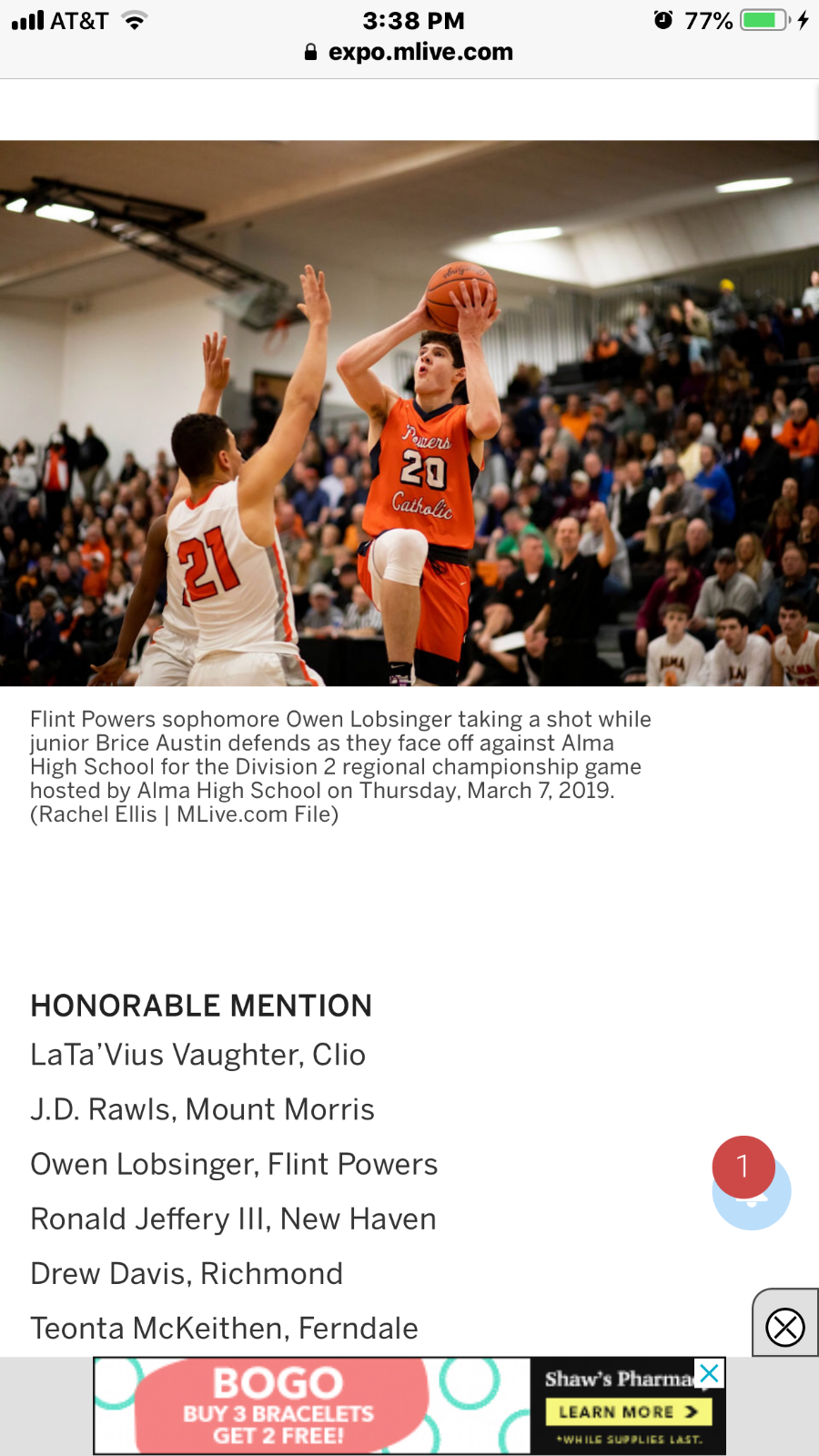 Lobsinger makes All-State and Dream Teams