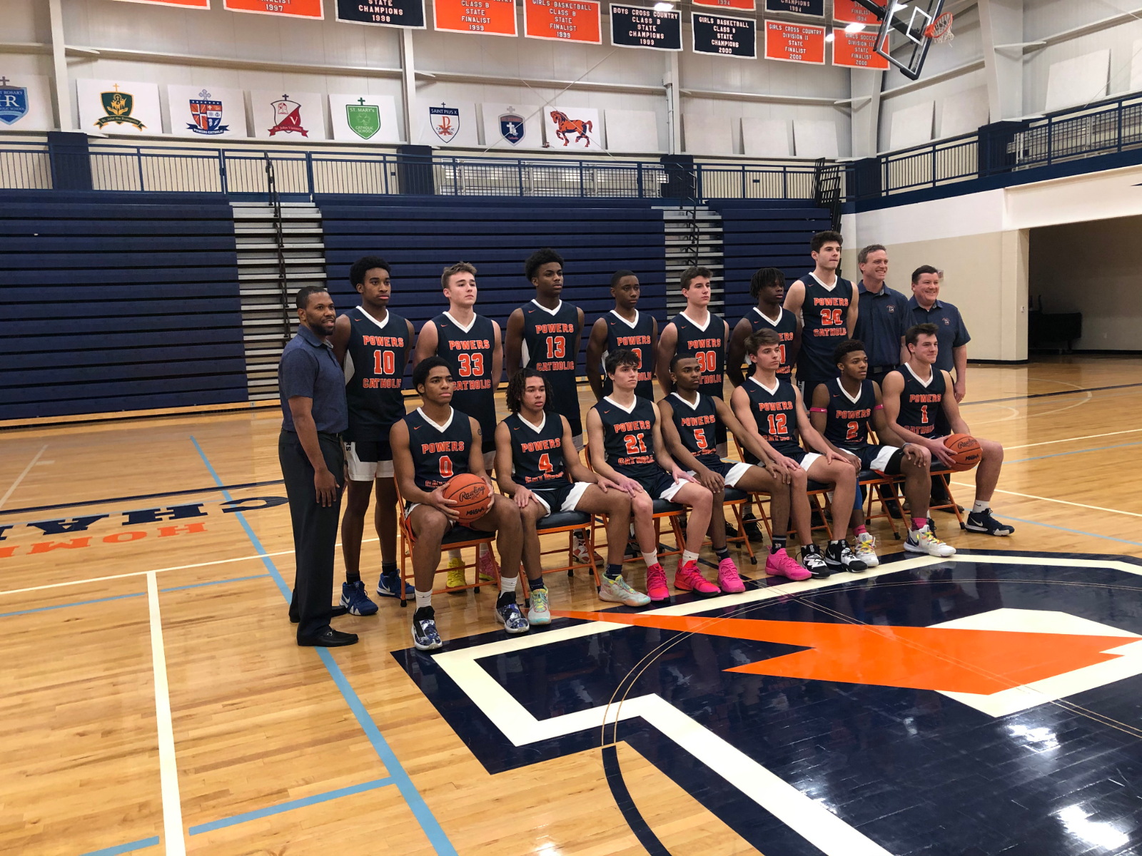 Meet your 2019/2020 Powers Catholic Charger Basketball Team