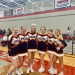 Girls Varsity Competitive Cheer finishes 10th place at Districts