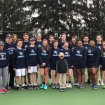 Crusader tennis battle through weather challenges