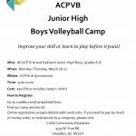 Junior High Volleyball Clinic