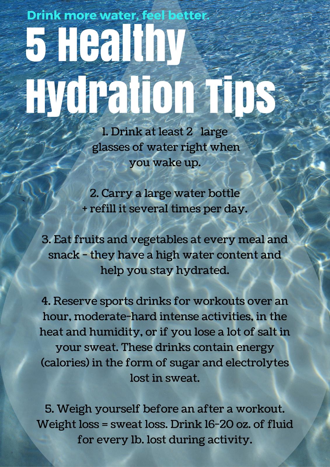 5 Healthy Hydration Tips