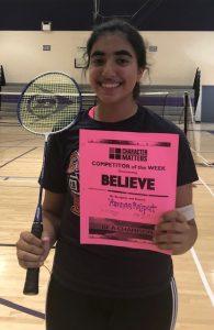 Badminton Character Matters Awards