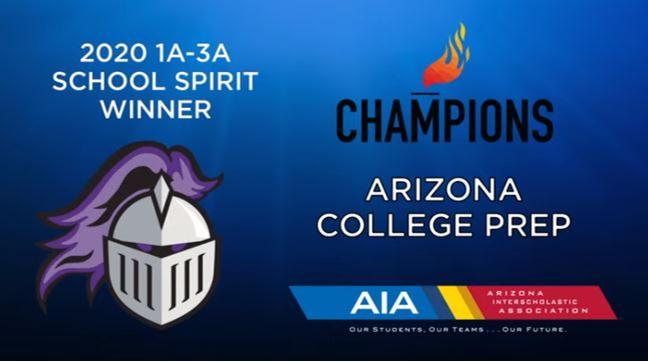 Congratulations Knights! School Spirit Winners!