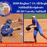 2019 Region 7 – 5A Region Softball Receipients