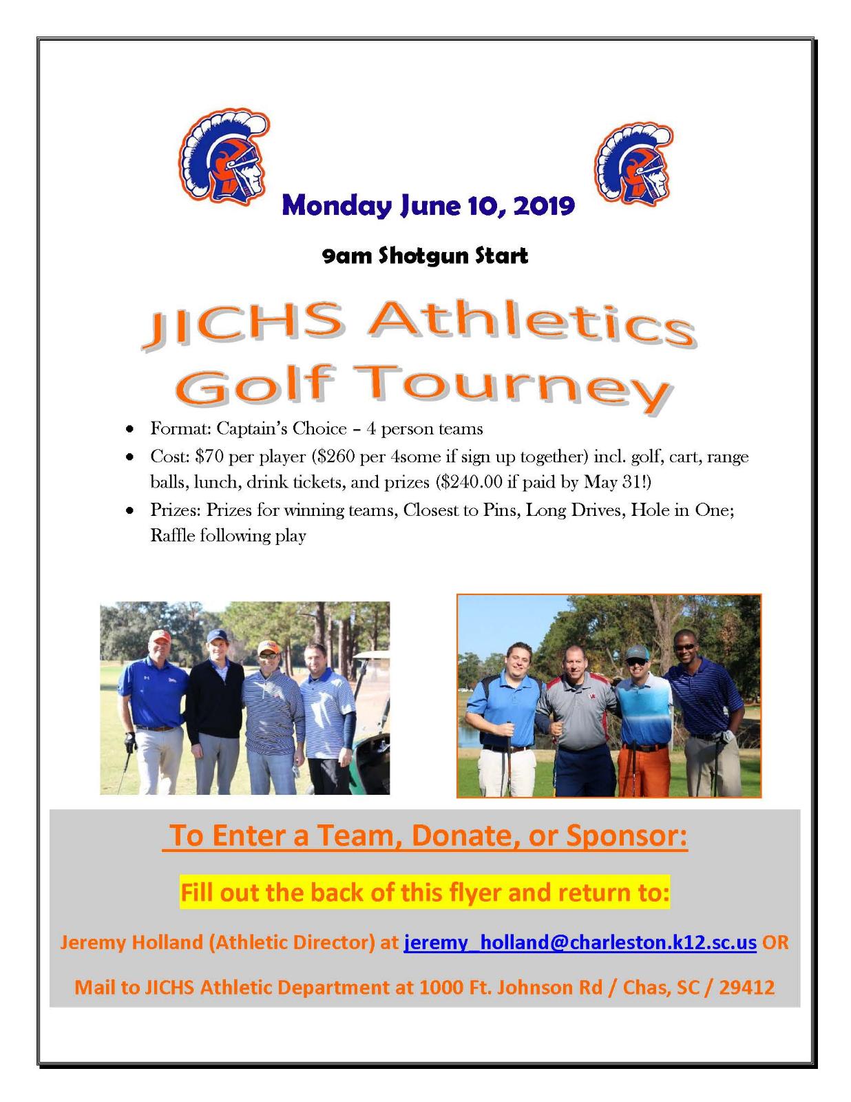 JICHS Athletics Golf Tourney Information